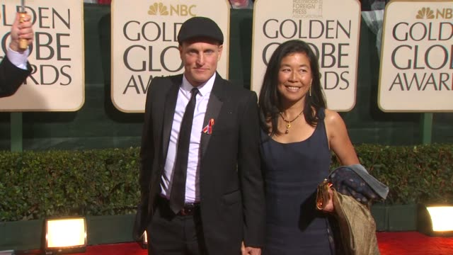 woody harrelson and guest at the 67th annual golden globe awards arrivals part 5 at beverly hills ca - woody harrelson stock videos & royalty-free footage