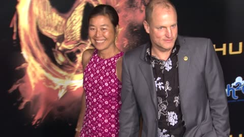 woody harrelson and laura louie at the hunger games world premiere on 3/12/2012 in los angeles, ca. - woody harrelson stock videos & royalty-free footage