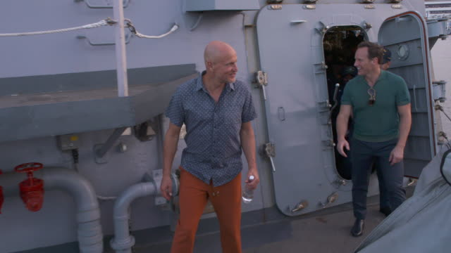 woody harrelson and patrick wilson at the midway special screening joint navy base pearl harbor hickam on october 20 2019 in honolulu hawaii - woody harrelson stock videos & royalty-free footage