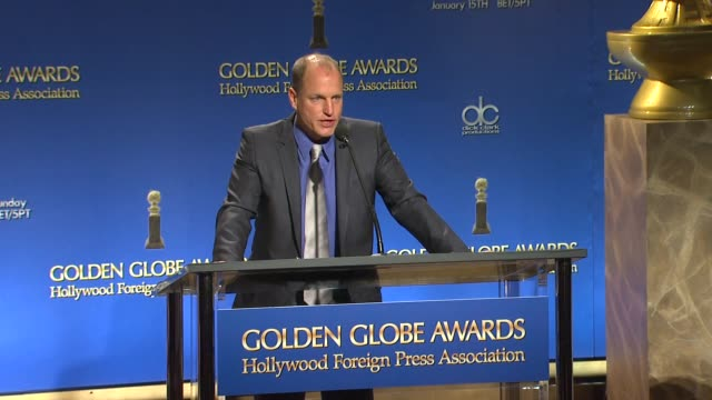 woody harrelson announces the 18th annual screen actors guild awards nominations in west hollywood - nomination stock videos & royalty-free footage