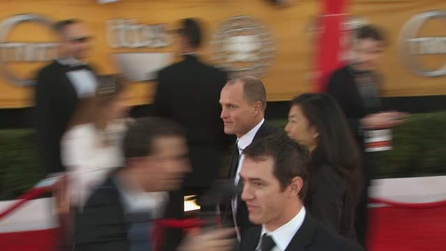 woody harrelson at the 16th annual screen actors guild awards - arrivals at los angeles ca. - woody harrelson stock-videos und b-roll-filmmaterial
