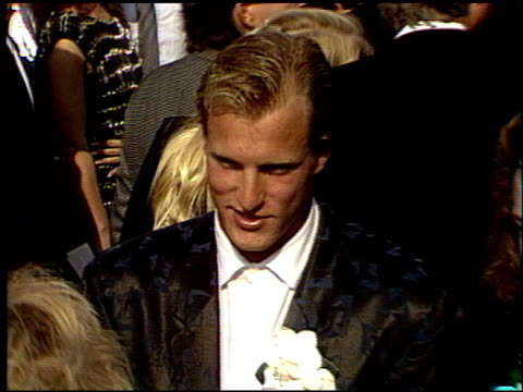 woody harrelson at the 1988 emmy awards outside at the pasadena civic auditorium in pasadena california on august 27 1988 - woody harrelson stock videos & royalty-free footage