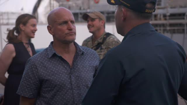 woody harrelson at the midway special screening joint navy base pearl harbor hickam on october 20 2019 in honolulu hawaii - woody harrelson stock videos & royalty-free footage