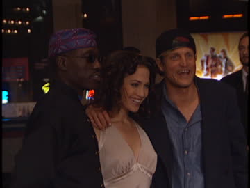 woody harrelson at the money train premiere at century city in century city, ca. - woody harrelson stock videos & royalty-free footage