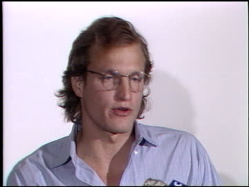 woody harrelson at the ted danson - woody harrelson oil spill press conference at paramount lot in hollywood, california on april 1, 1989. - woody harrelson stock videos & royalty-free footage