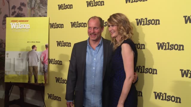woody harrelson laura dern at wilson special screening presented by fox searchlight at the whitby hotel on march 19 2017 in new york city - woody harrelson stock videos & royalty-free footage