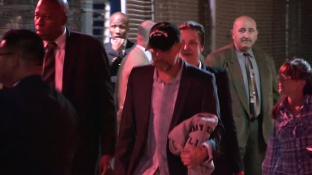 woody harrelson laura louie evade fans at jimmy kimmel studio in hollywood at celebrity sightings in los angeles woody harrelson laura louie evade... - woody harrelson stock videos and b-roll footage