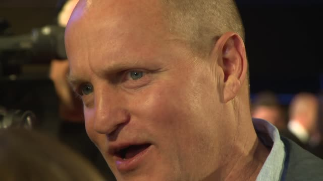 woody harrelson, martin mcdonagh, kathryn newton, clarke peters at odeon leicester square on october 15, 2017 in london, england. - woody harrelson stock videos & royalty-free footage