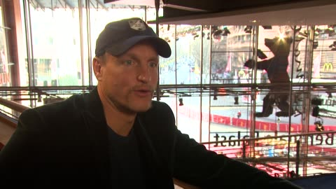 woody harrelson on george bush and the damage to the world economy by big corporations and on obama at the 59th berlin film festival: the messenger... - woody harrelson stock videos & royalty-free footage