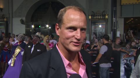 woody harrelson on how he feels about twinkies, if he had gun training, what scares him, and what the best part about filming was. at the... - woody harrelson stock videos & royalty-free footage
