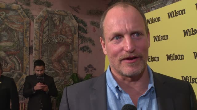 interview woody harrelson on the film and returning to comedy at wilson special screening presented by fox searchlight at the whitby hotel on march... - woody harrelson stock videos & royalty-free footage