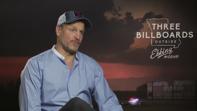 woody harrelson on the plot, his characters perspective on the crime in the film at 'three billboards outside ebbing, missouri' interviews - 74th... - woody harrelson stock videos & royalty-free footage
