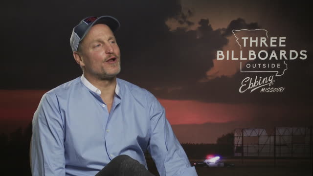 woody harrelson on wanting to play sam rockwell part in the film, the finish film, martin mcdonagh high skill level at 'three billboards outside... - woody harrelson stock videos & royalty-free footage