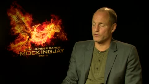 woody harrelson on working with a cast that became famous in front of his eyes, jennifer lawrence at 'the hunger games: mockingjay, part 2'... - woody harrelson stock videos & royalty-free footage