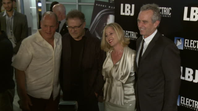"""woody harrelson, robert f. kennedy jr. and albert brooks at the """"lbj"""" premiere at arclight hollywood on october 24, 2017 in hollywood, california. - woody harrelson stock videos & royalty-free footage"""