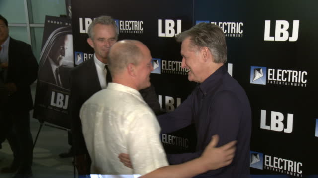 """woody harrelson, robert f. kennedy jr and bill pullman at the """"lbj"""" premiere at arclight hollywood on october 24, 2017 in hollywood, california. - woody harrelson stock videos & royalty-free footage"""
