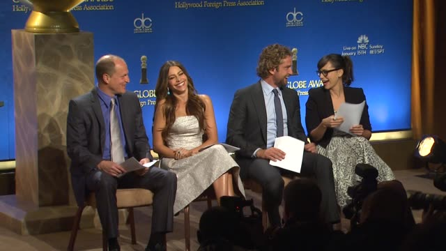 Woody Harrelson Sofia Vergara Gerard Butler and Rashida Jones at The 69th Annual Golden Globe Awards Nominations in Beverly Hills