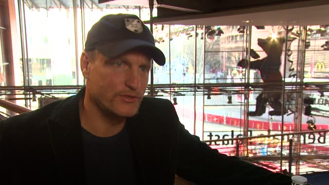 woody harrelson talks about how challenging playing this character at the 59th berlin film festival the messenger interview at berlin - woody harrelson stock videos and b-roll footage