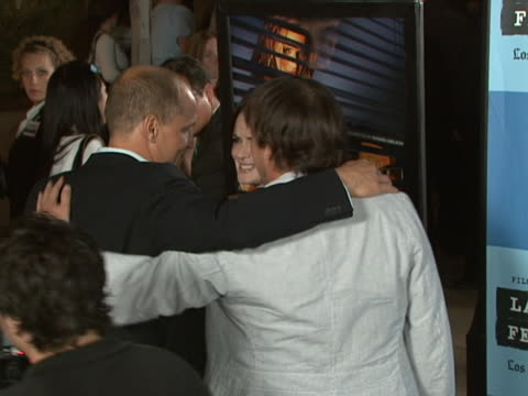 woody harrelson winona ryder and richard linklater at the a scanner darkly premiere at ford theater in hollywood california - woody harrelson stock videos and b-roll footage