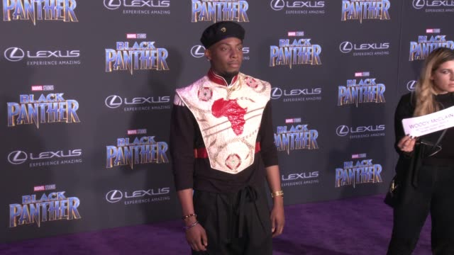 Woody McClain at the Marvel Studios' 'Black Panther' World Premiere at Dolby Theatre on January 29 2018 in Hollywood California