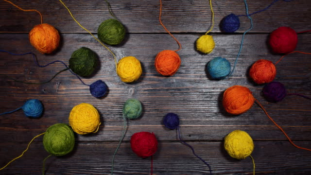 wool balls animation - ball of wool stock videos & royalty-free footage
