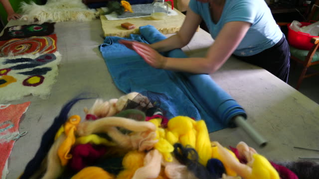wool crafts - rolling stock videos & royalty-free footage