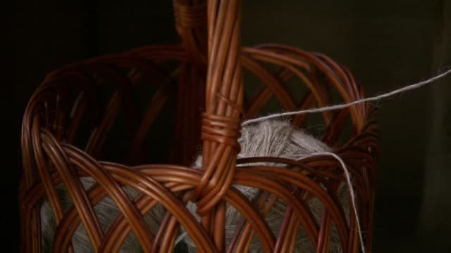 wool in wicker basket - tailored clothing stock videos & royalty-free footage