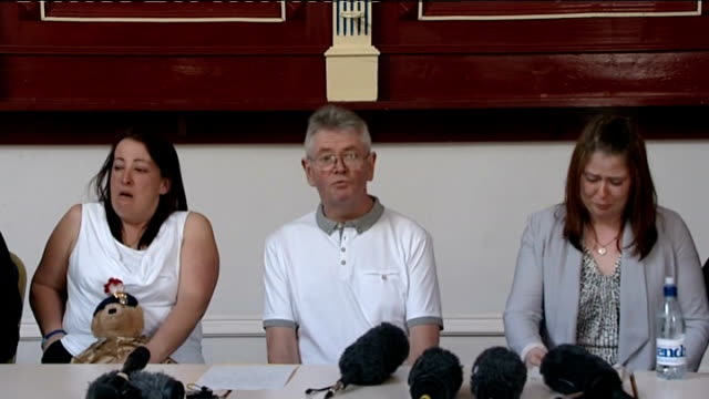 lee rigby family press conference england greater manchester bury int family of drummer lee rigby murdered outside woolwich barracks in london into... - lee rigby stock videos & royalty-free footage