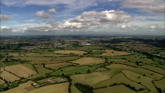 Worcester - Aerial View - England, Worcestershire, Worcester District, United Kingdom