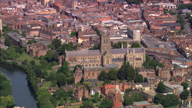 worcester cathedral - river severn stock videos & royalty-free footage
