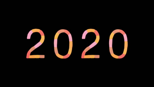 "word ""2020"" created with powder in warm colors exploding towards camera in super slow motion and closeup on black background - capital letter stock videos & royalty-free footage"