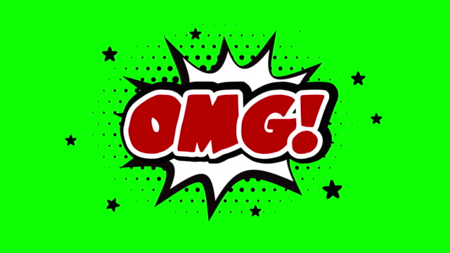 omg word animation over a chroma key background - social gathering stock videos & royalty-free footage