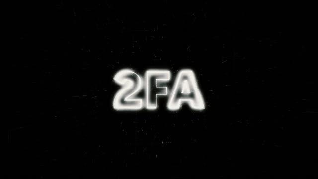 stockvideo's en b-roll-footage met 2fa woord animatie - vertaling
