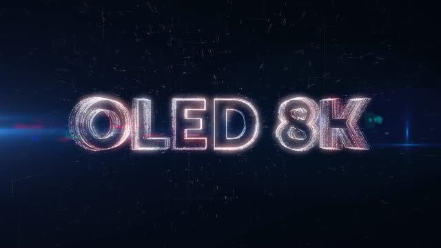 oled 8k word animation - wide screen stock videos & royalty-free footage