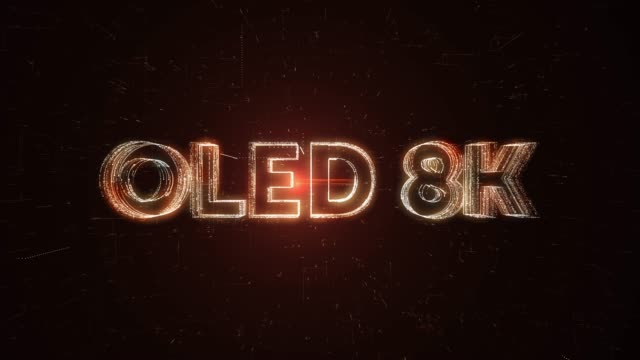 oled 8k word animation - liquid crystal display television stock videos and b-roll footage