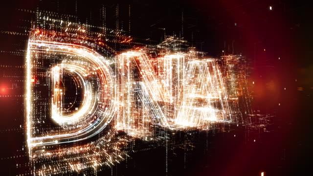 アニメーションの dna という言葉 - 拡大イメージ点の映像素材/bロール
