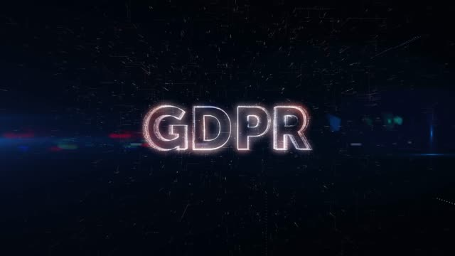 stockvideo's en b-roll-footage met gdpr woord animatie - privésfeer
