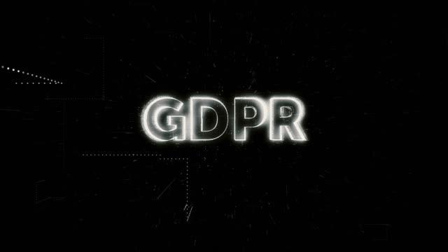 vídeos y material grabado en eventos de stock de animación de palabra gdpr - dilema moral
