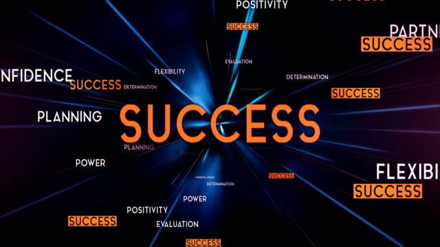 success word cloud flying towards camera (black) - loop - english language stock videos and b-roll footage