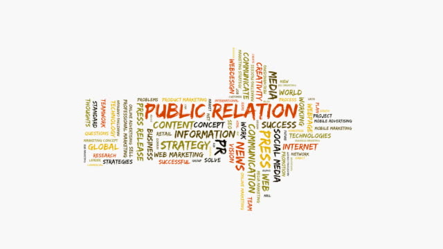 pr word cloud - press release stock videos and b-roll footage