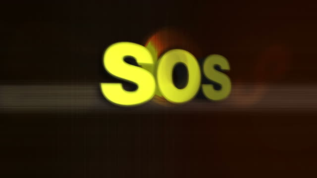 sos 3d word graphic - sos stock videos and b-roll footage