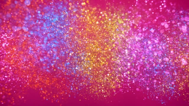 """word """"self love"""" made with multi colored glitter exploding towards camera and becoming defocused on deep pink background, glittering bokeh - self love stock videos & royalty-free footage"""