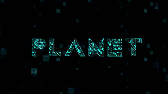 word title of planet on backgrounds - world title stock videos and b-roll footage