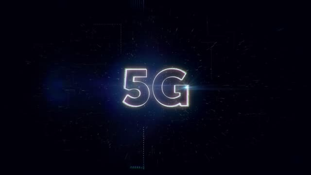 5g worte animation - drahtlose technologie stock-videos und b-roll-filmmaterial