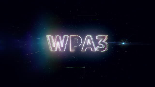 wpa3 words animation - wpa stock videos & royalty-free footage