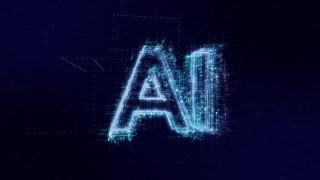 ai words icon digital code technology background - artificial intelligence stock videos & royalty-free footage