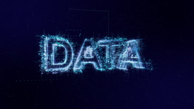 data words icon digital code technology background - binary code stock videos & royalty-free footage