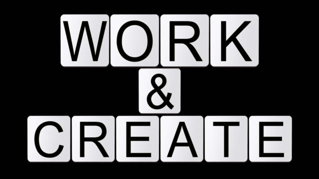 work & create - crossword stock videos and b-roll footage
