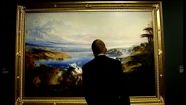 Work of Victorian artist John Martin enjoys revival ENGLAND London Tate Britain INT Framed painting The Great Day of His Wrath by artist John Martin...