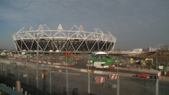 work on the main venues for the 2012 olympic games in london are nearing completion with organisers claiming they are 'on time and on budget' london... - afp stock videos & royalty-free footage